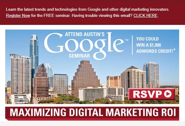 Attened Austin's Google Seminar
